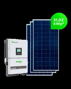 GERADOR DE ENERGIA GROWATT 31,02 kWp